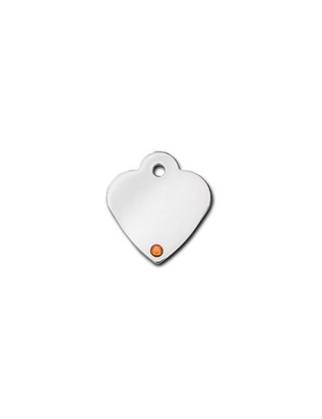 Ταυτότητα καρδιά μικρή με πέτρα Topaz - Νοέμβριος