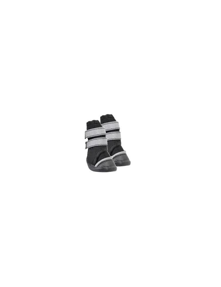 Μαύρα Παπουτσάκια Σκύλου με Διπλό Velcro