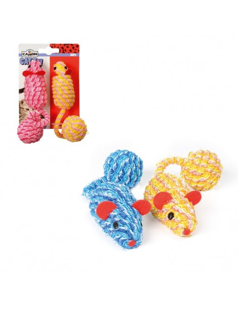 Rope mice with ball