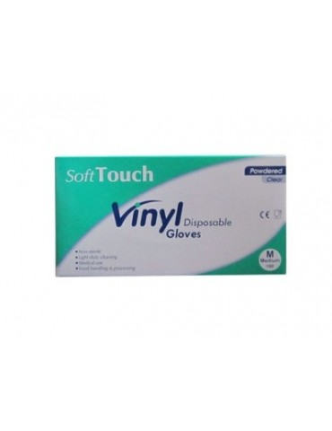 "Examination Vinyl Gloves ""Souft Touch"", Lightly Powdered"