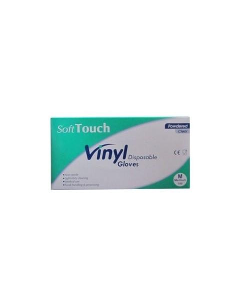 "Examination Vinyl Gloves ""Souft Touch"", Lightly Powdered"