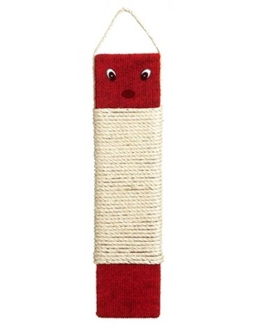 Red scratching board with cat figure