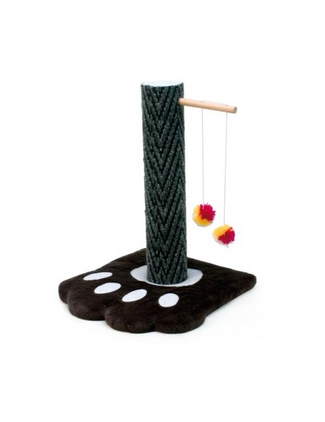 Scratching post with paw-shaped foor panel