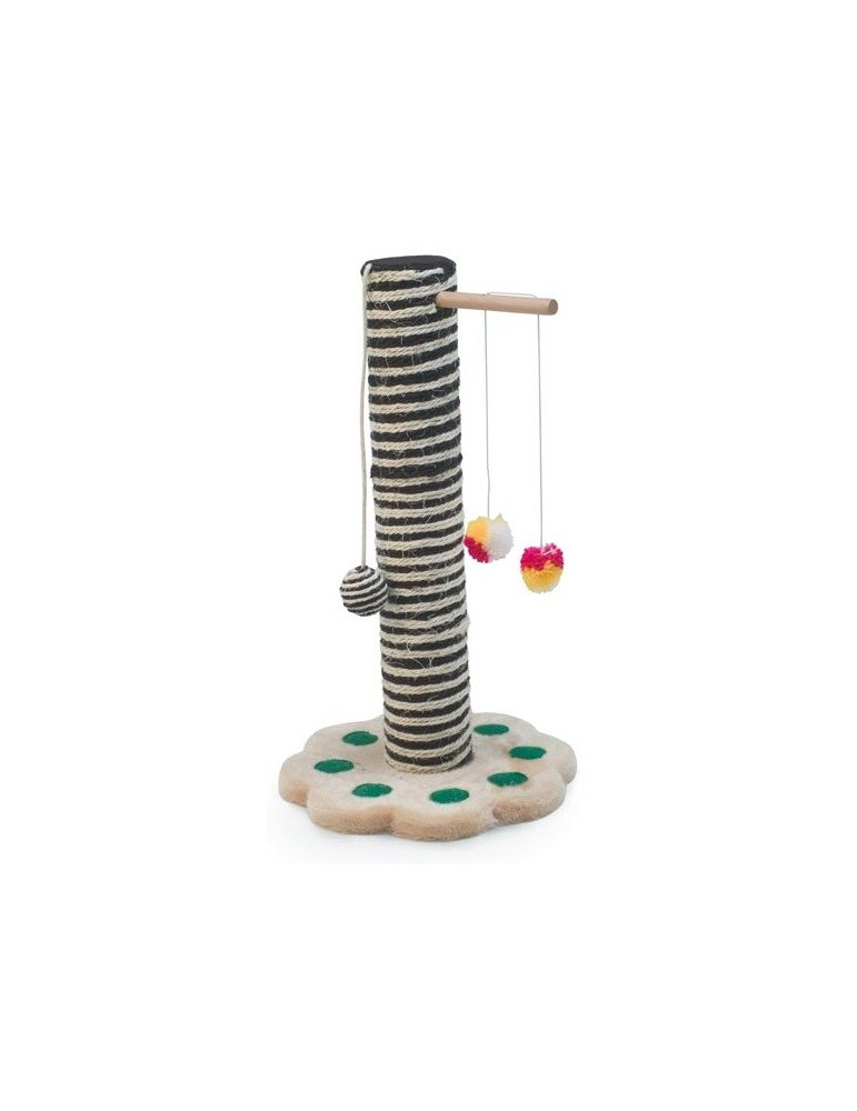 """""""Two-colours"""" scratching post with cat toys"""