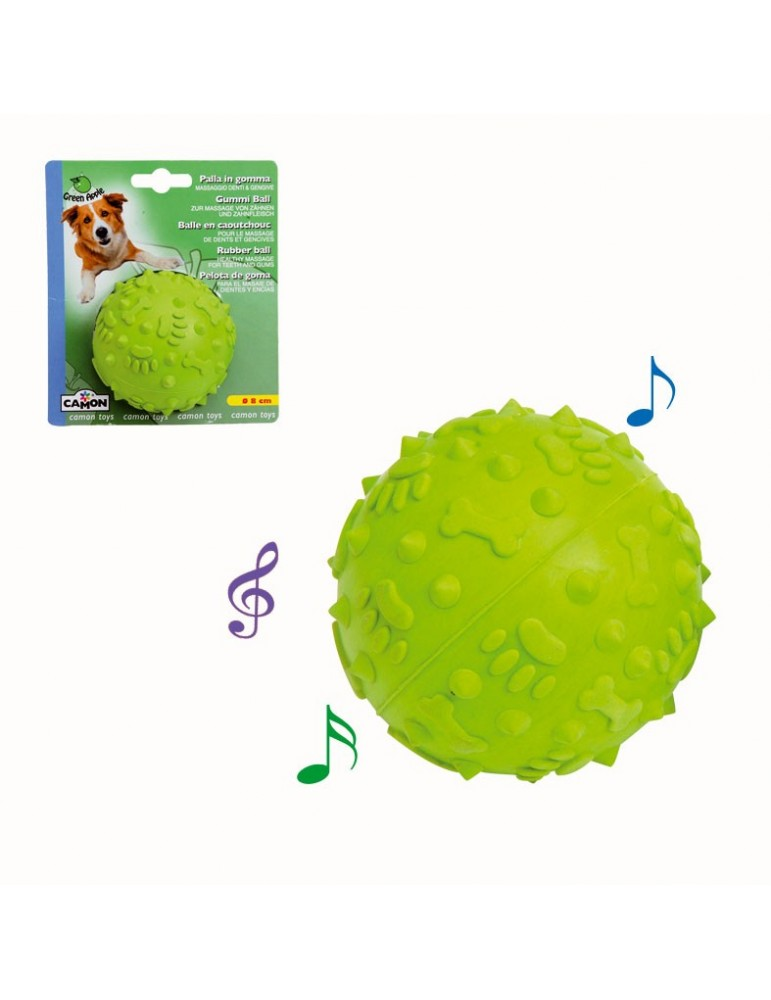 Green Apple Rubber Ball with Sound
