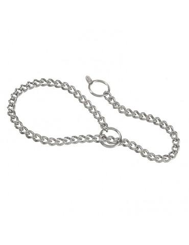 Choke collar with fine link