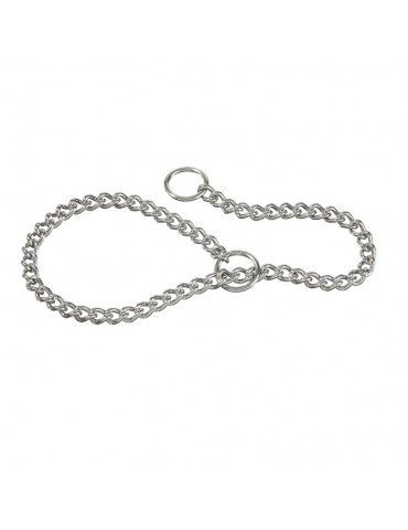 Choke collar with fine link