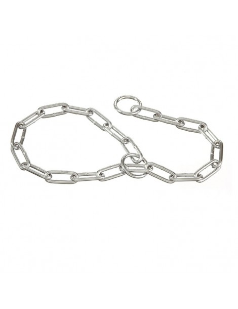 Choke collar with wide link