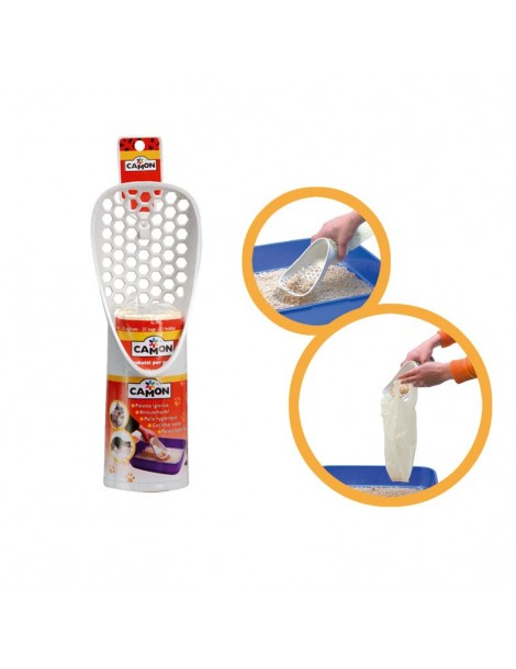 Poop scooper with disposable bags