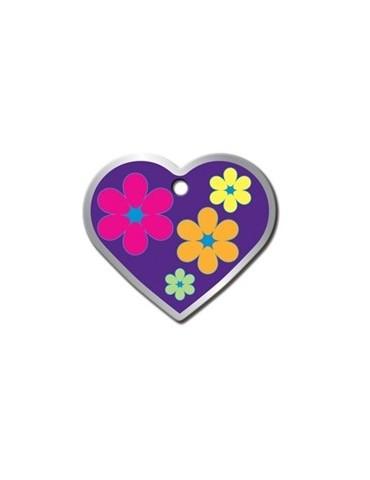 """Ταυτότητα καρδιά μεγάλη με λουλούδια """"RSD EDGE"""""""