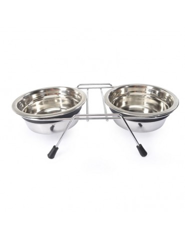 Set Stand with 2 Bowls