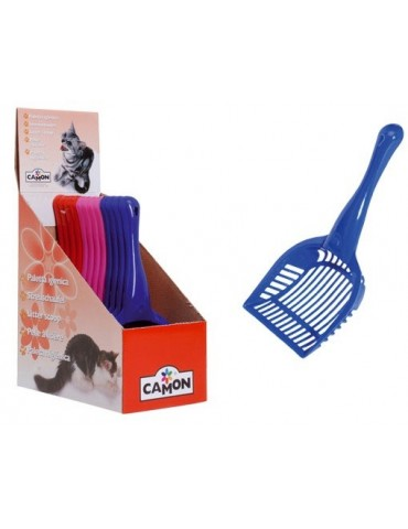 Colored plastic scoop for toilet