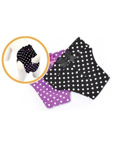 Black cotton dog pants