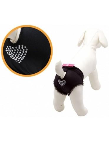 Black dog pants