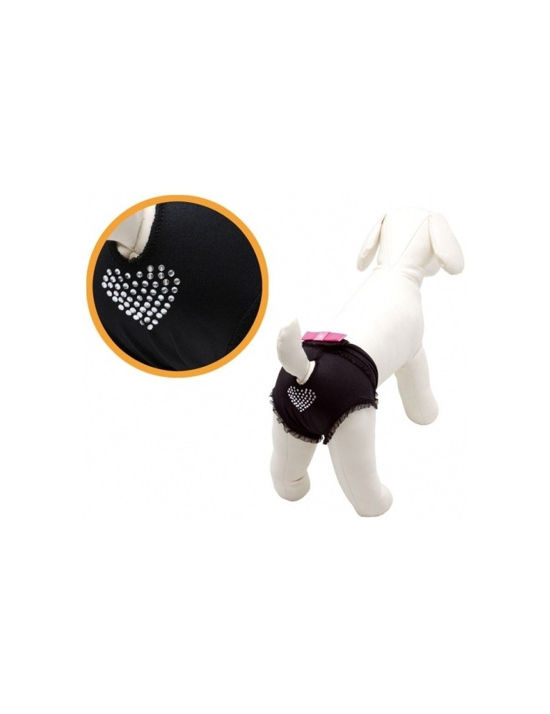 Μαύρο εσώρουχο σκύλων με στράς