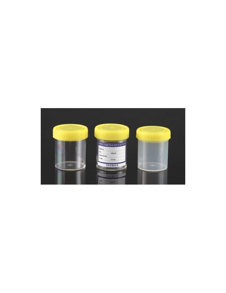 Δοχείο 70ml με κίτρινο καπάκι και ετικέτα