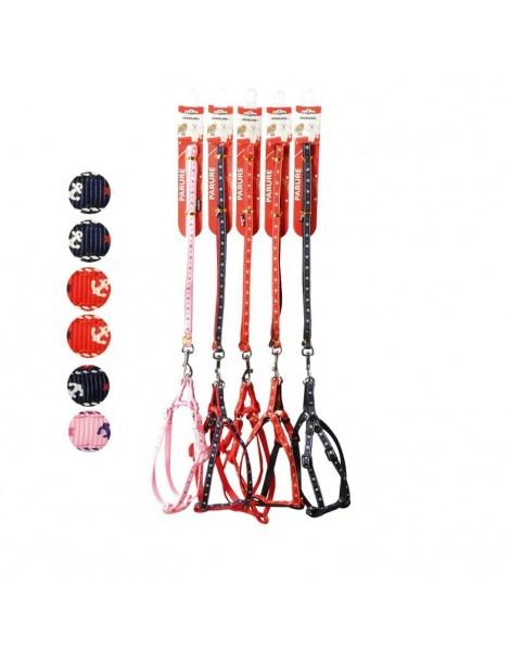 "Dog harness and leash set ""Ancora"""