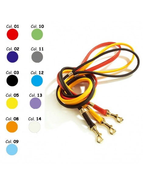 Tubular imitation leather leash in various colors