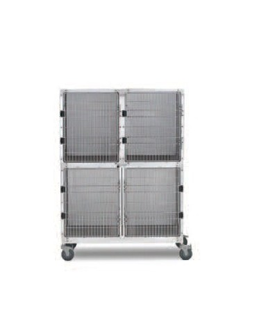 Triple Stainless Steel Kennel