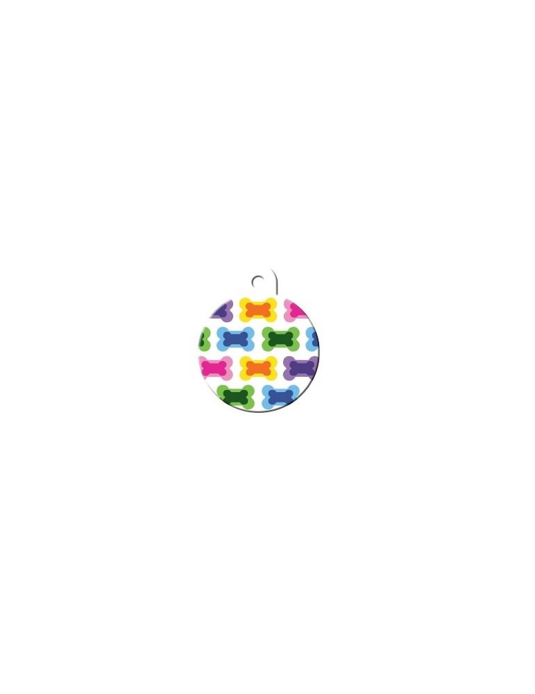 Ταυτότητα κύκλος χρωματιστός μεγάλος με κόκαλα