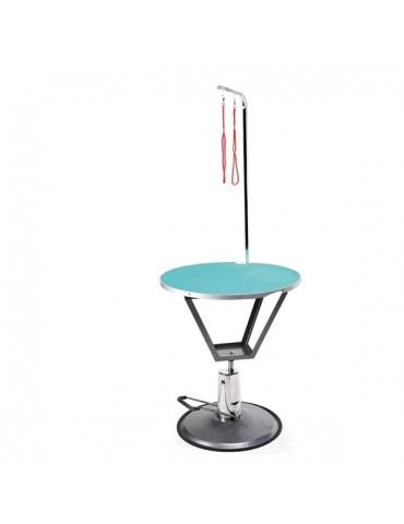 Στρογγυλό Υδραυλικό Τραπέζι Κομμωτηρίου