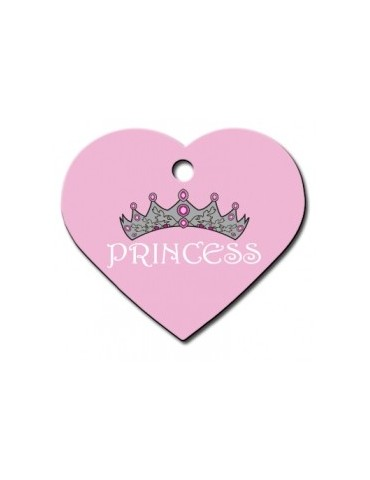 Heart ID Tag Pink Large Princess