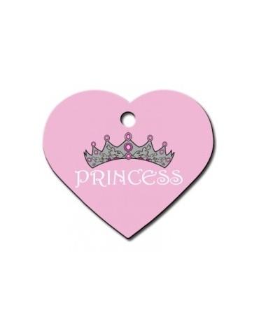 Ταυτότητα καρδιά μεγάλη ροζ Princess