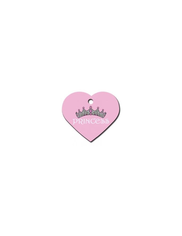 Heart ID Tag Pink Large Princess