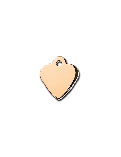 Gold Heart ID Tag  Small