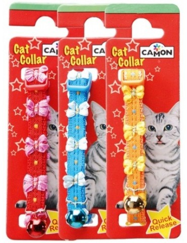 Cat Collar with Bows & Bell