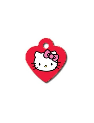 "Small Red Heart Tag ""Hello Kitty"""
