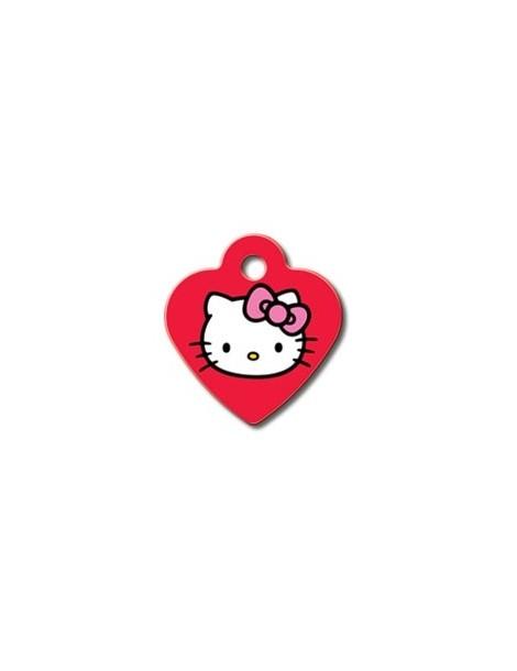 """Ταυτότητα καρδιά μικρή Κόκκινη """"Hello Kitty"""""""