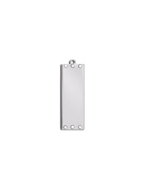 Rectangle ID Tag with Rhinestones
