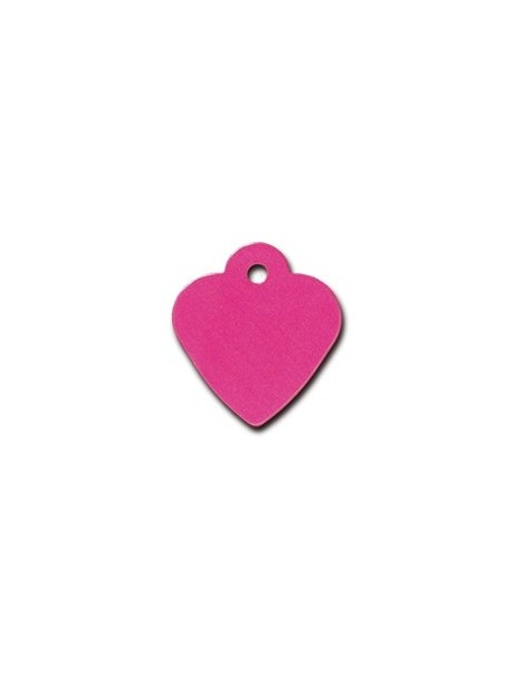 Pink Heart ID Tag  Small