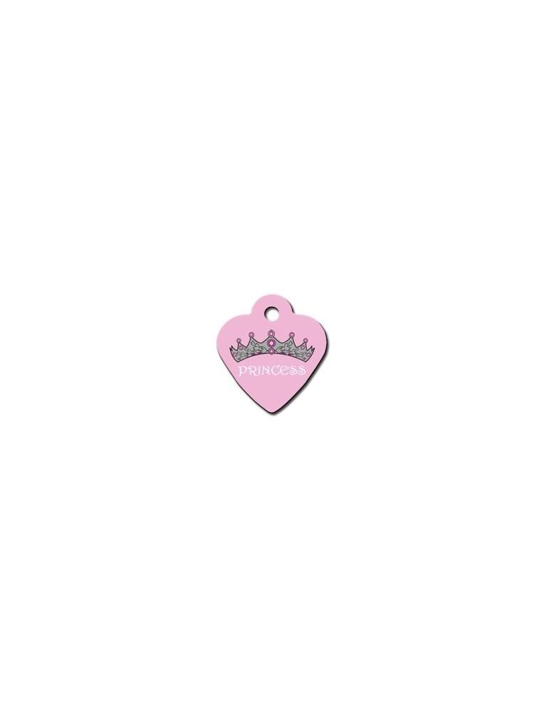 Heart ID Tag Pink Small Princess