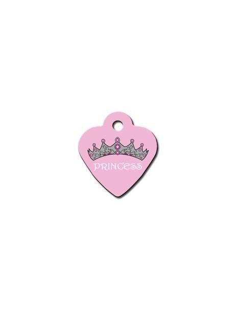 Ταυτότητα καρδιά μικρή ροζ Princess