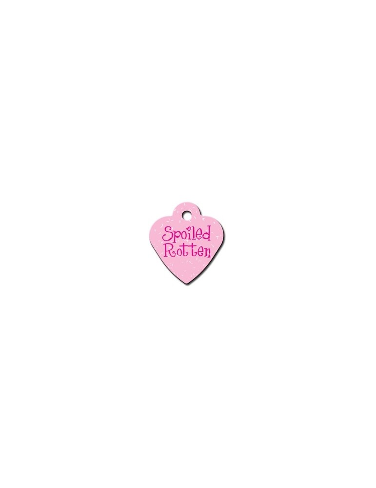 "Small Pink Heart Tag ""Spoiled Rotten"""