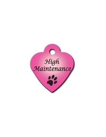 """Ταυτότητα καρδιά μικρή ροζ """"High Maintenance"""""""