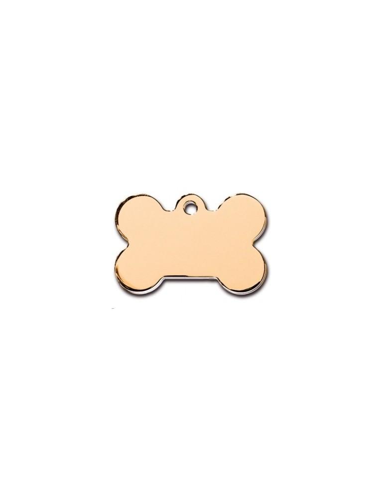 Large Gold  Bone ID Tag