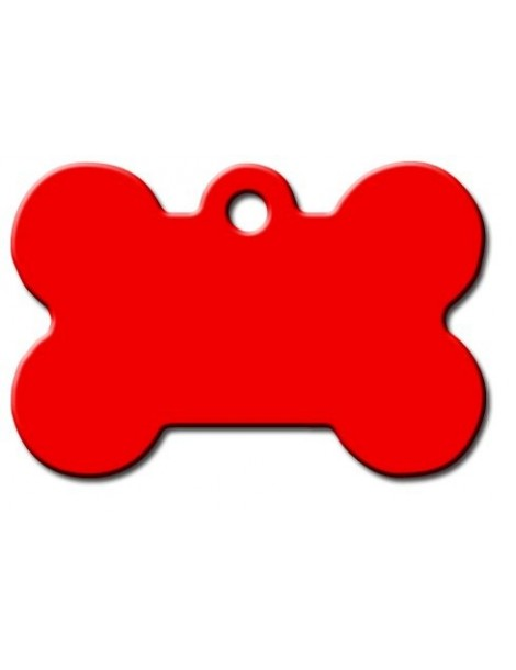 Large Red Bone ID Tag