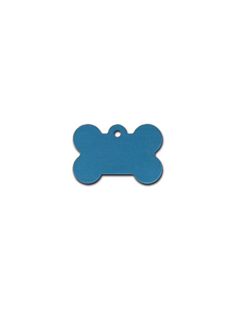 Large Blue Bone ID Tag