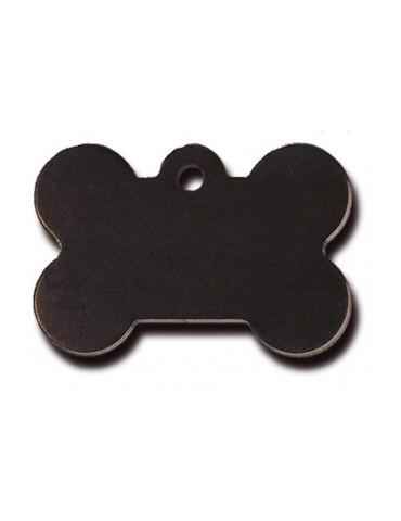 Large Black Bone ID Tag