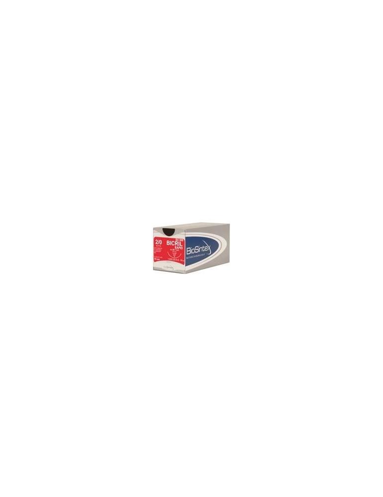 USP 2/0 - Bicril Rapid 3/8 circle reverse cutting 29,7mm