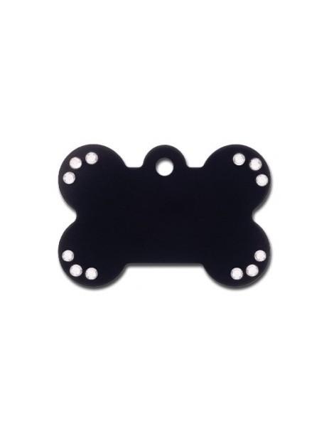 Ταυτότητα κόκκαλο μαύρο με στρας