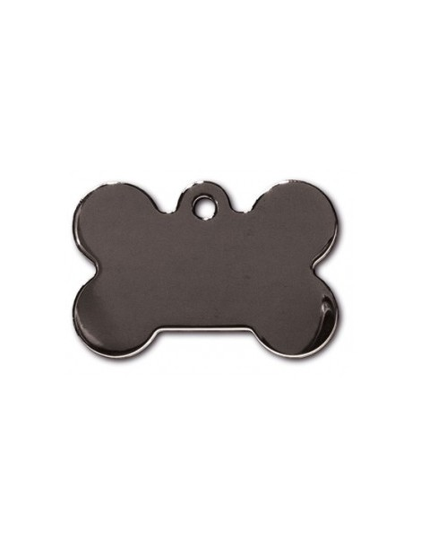 Smokey Black Bone ID Tag