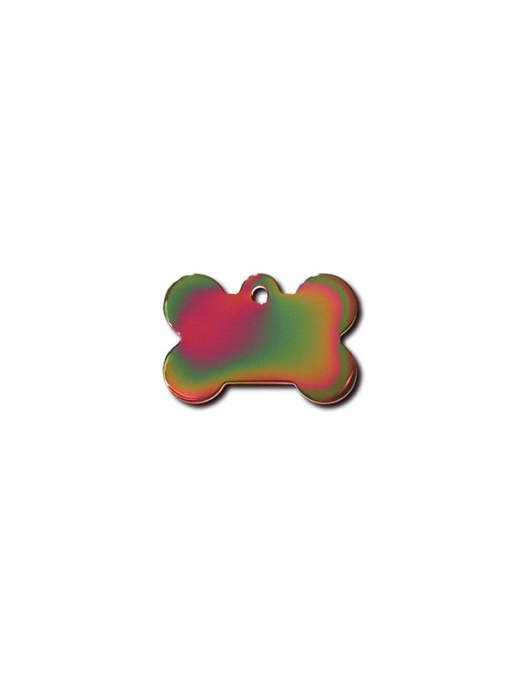 Rainbow Bone ID Tag