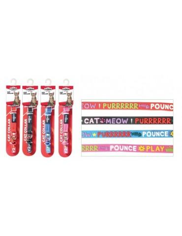 """Περιλαίμιο Γάτας Rubber """"Meow"""""""