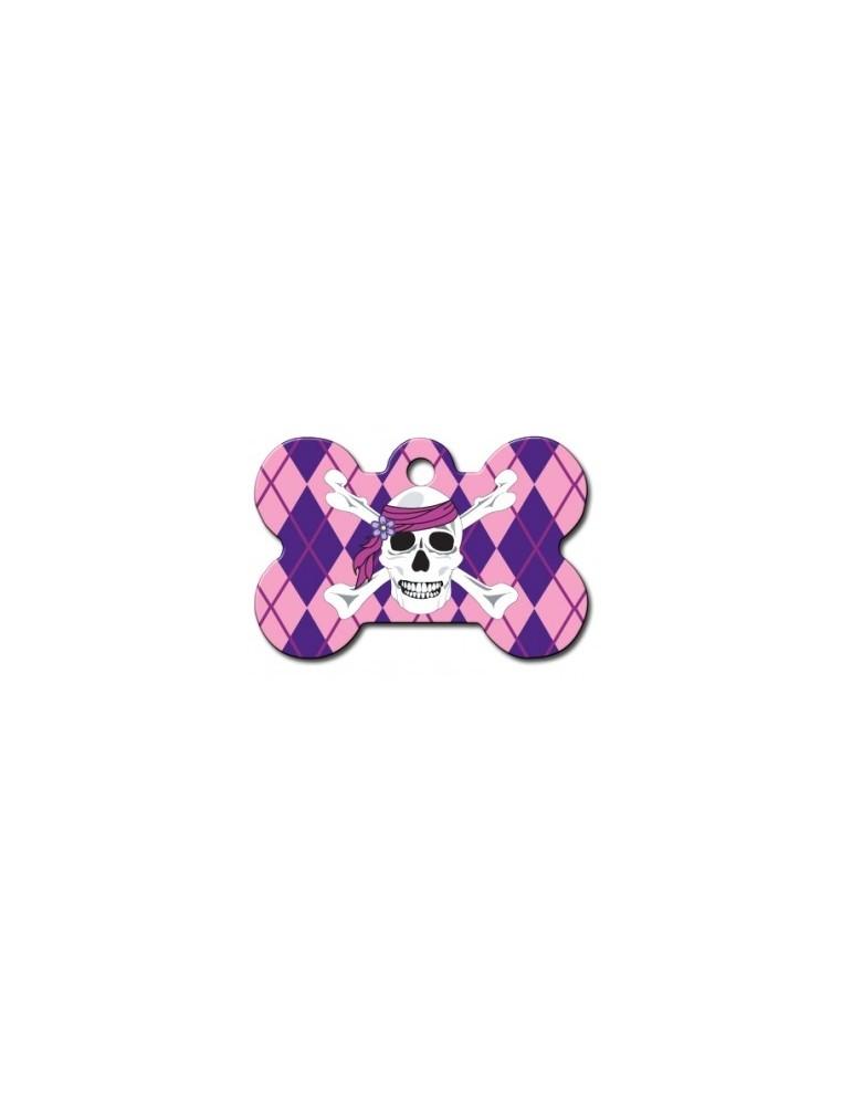 Ταυτότητα κόκκαλο ροζ πειρατική