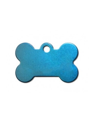 Small Bone Blue Anodized ID Tag