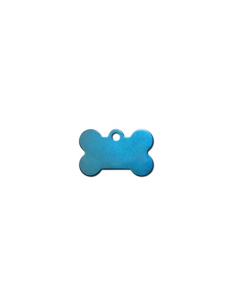 Small Bone Blue Anodized ID Tag